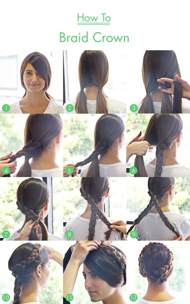 Braid Hair Tutorials For Long Hair Braid Crown Tutorial For Long