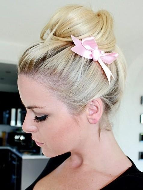 Cute Bun Hairstyles: Easy Prom Updo 2014