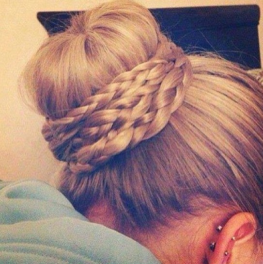 Cute Braided Bun Hairstyles For Short Hair : Cute bun hairstyles for prom popular haircuts