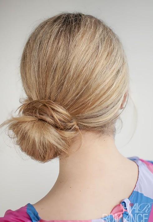 Easy Cute Bun Hairstyle