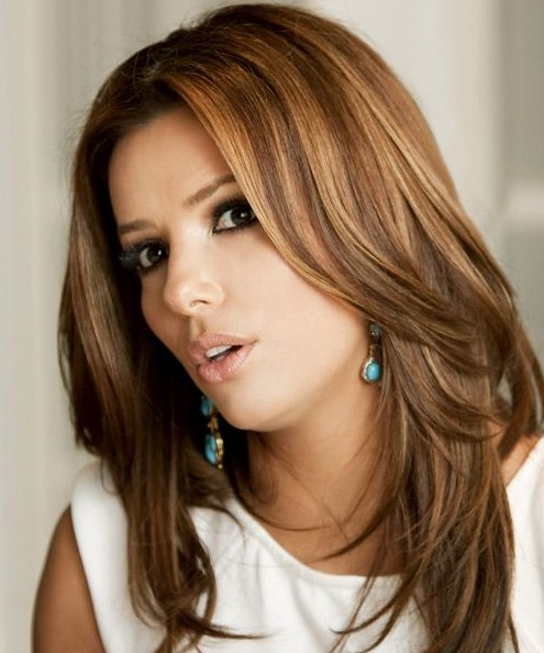 Eva Longoria Long Hairstyles Trendy Straight Hairstyle