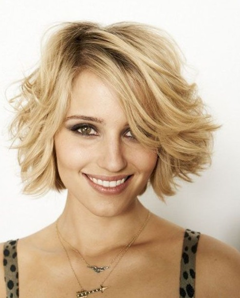 Hairstyles with Bangs - Short Wavy Haircuts 2014