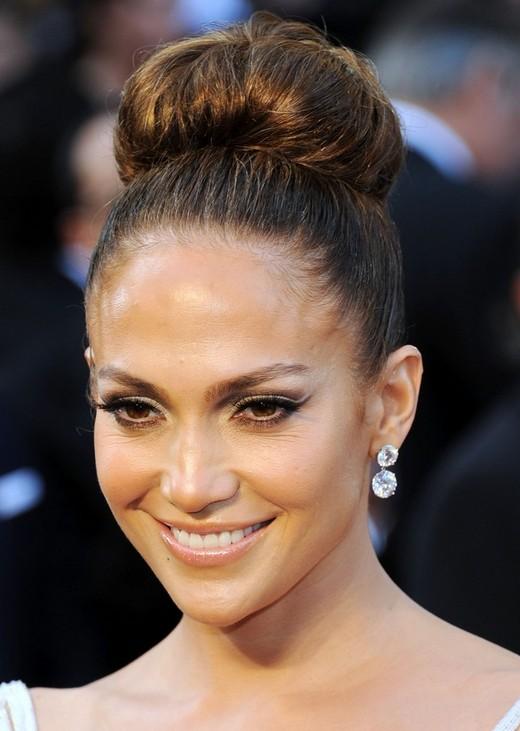 Jennifer Lopez Hairstyles High Bun Updos Popular Haircuts