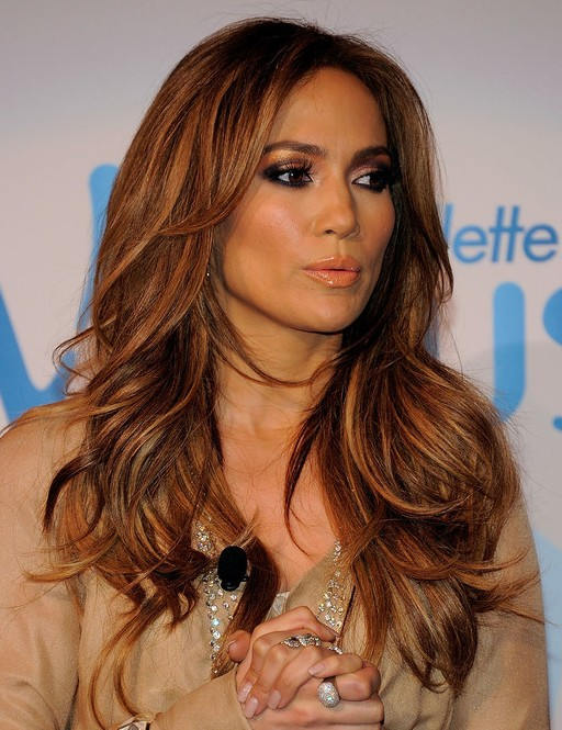 Jennifer Lopez Hairstyles: Long Layered Hairstyle