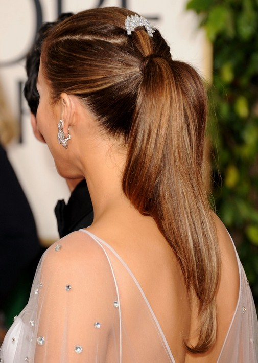 Jennifer Lopez Hairstyles Sleek And Straight Ponytail