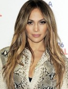 Jennifer Lopez Long Hairstyles: Center Part Hairstyle