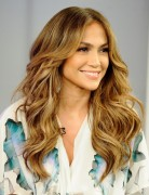 Jennifer Lopez Long Hairstyles: Center Parted Wavy Hair