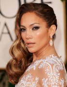 Jennifer Lopez Long Hairstyles: Side Waves Hair