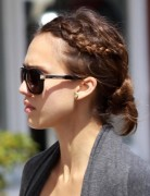 Jessica Alba Hairstyles: Casual Braided Updo