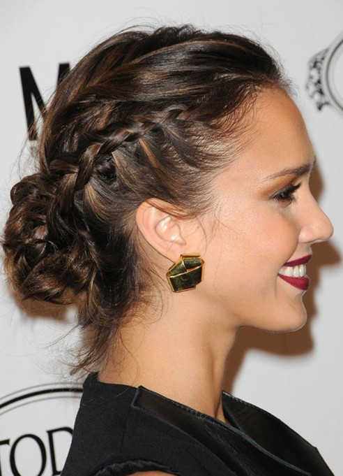 Jessica Alba Hairstyles Elegant Messy Retro Inspired Updo Popular