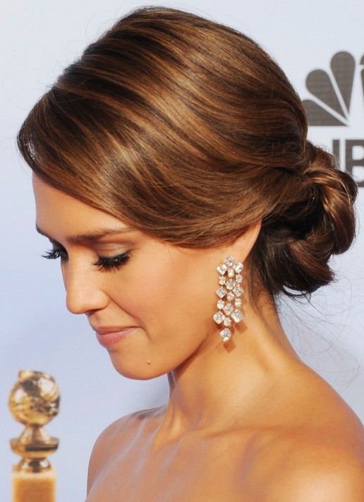 Jessica Alba Hairstyles: Elegant Updos