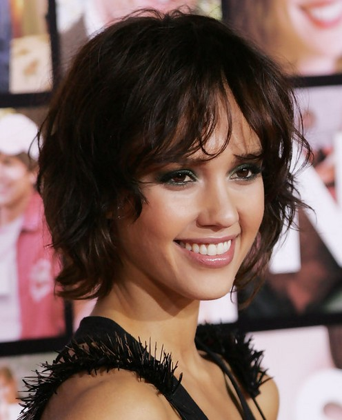 Jessica Alba Hairstyles Messy Short Haircut