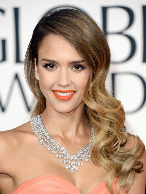 Jessica Alba Hairstyles: Ombre Long Wavy