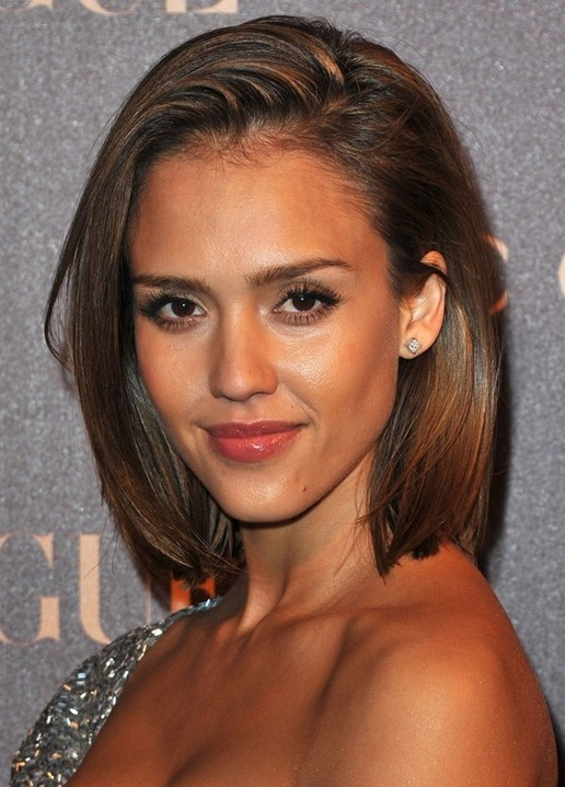 Jessica Alba Hairstyles Short Bob Haircut Popular Haircuts