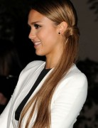 Jessica Alba Hairstyles: Side Low Tight Ponytail