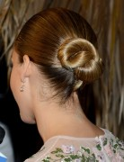 Jessica Alba Hairstyles: Simple Smooth Updo Hairstyle