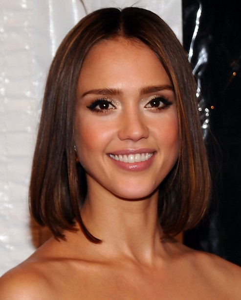 Jessica Alba Hairstyles Straight Long Bob