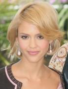 Jessica Alba Short Hairstyles: Blonde Bob Cut