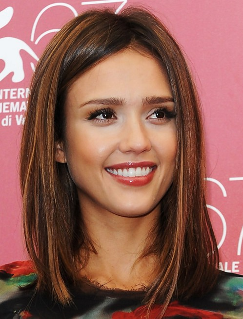 Alba Shoulder-length Hairstyles: Straight Hair - PoPular Haircuts