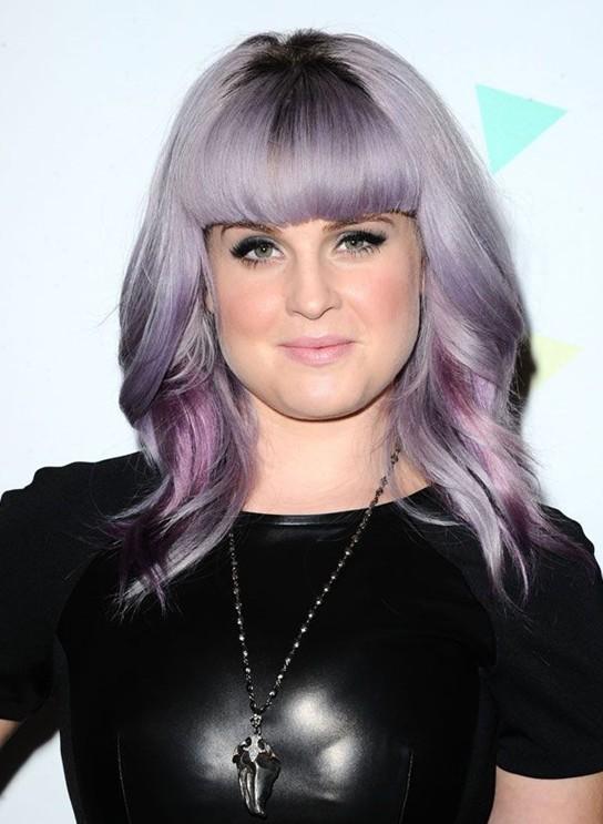 Kelly Osbourne Hair Styles 2014: Medium Haircut with Blunt Bangs