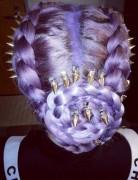 Kelly Osbourne Hairstyles 2014: Trendy Braided Updo Hairstyle Ideas