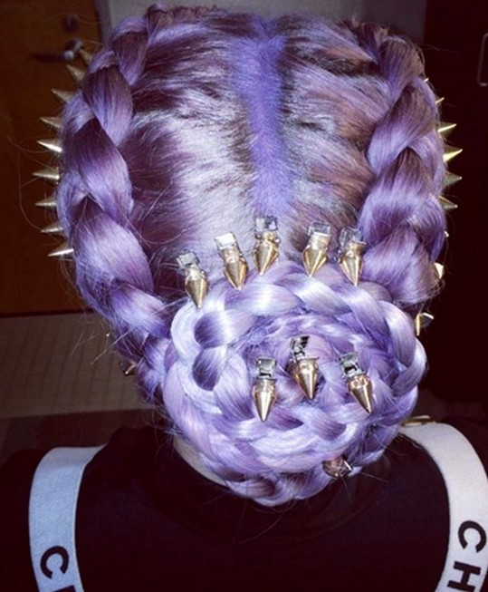 Kelly Osbourne Hairstyles 2014: Trendy Braided Updo Hairstyle Ideas
