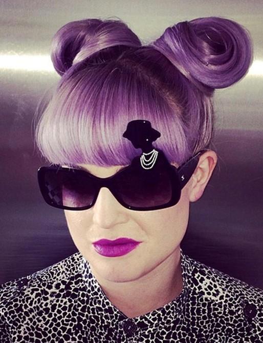 Kelly Osbourne Hairstyles: Cute Updo Hairstyle