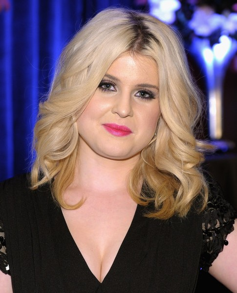 Kelly Osbourne Medium Hairstyles: Feathered Curly Hair