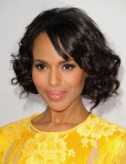 Kerry Washington Hairstyles: Curly Hairstyle with Short Bangs