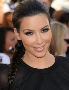 Kim Kardashian Long Hairstyles: Beautiful Side Braid