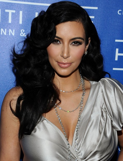 Kim Kardashian Long Hairstyles: Black Curly Hairstyle