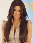 Kim Kardashian Long Hairstyles: Brown Hair
