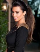 Kim Kardashian Long Hairstyles: High Ponytail Hairstyle