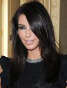 Kim Kardashian Medium Hairstyles: Casual Black Hair