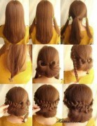 Low Braided Bun Updo Tutorials