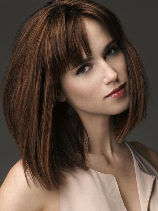 Brown Haircuts With Bangs
