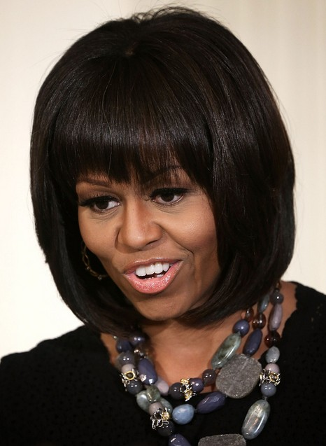 Michelle Obama Hairstyles Classic Bob Haircut For Short