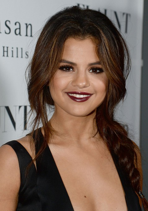 selena gomez hairstyles 2014 braided long hair popular