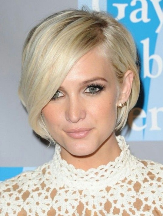 Short Hairstyles With Bangs 2017 Celebrity Haircut
