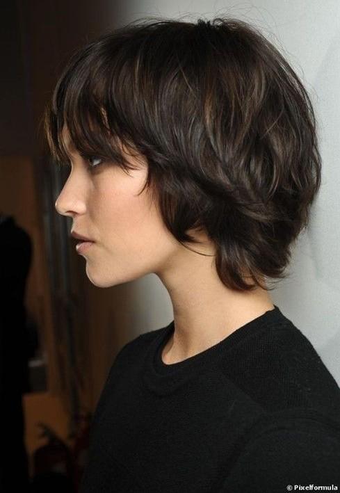 Short Shag Haircuts 2014: Brown Hair