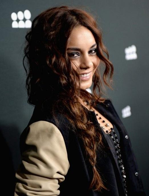 Vanessa Hudgens Hair Styles 2014 Long Curly Braided