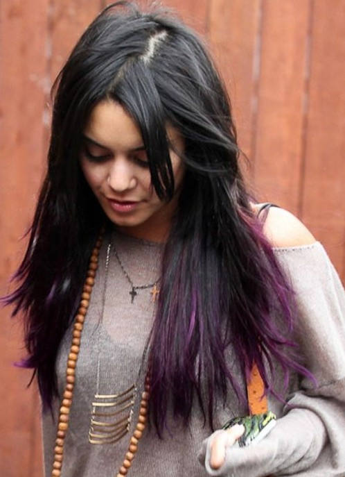 Vanessa Hudgens Hair Styles Long Straight Hairstyle