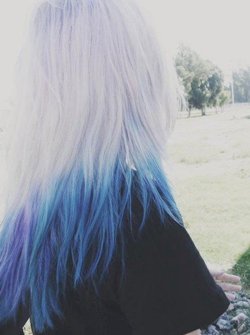 2014 Ombre Hair Color: Blue with the slight of purple