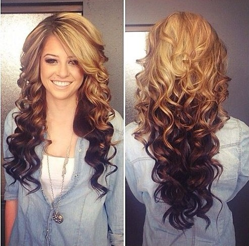 2014 Ombre Hair Color: Brown and Blonde Hair