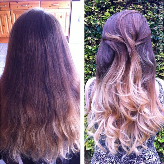 Color styles hair girl