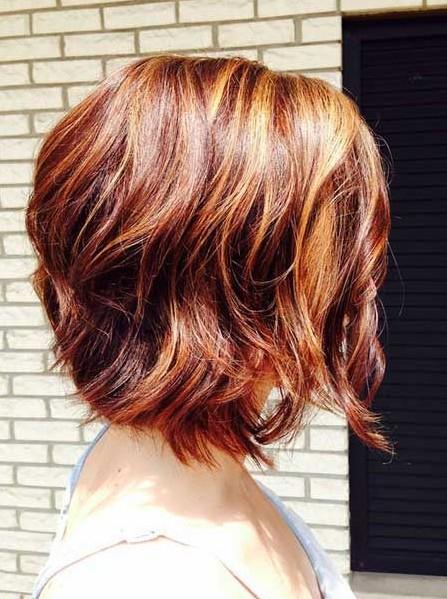 2014 Short Haircuts for Women: Short Wavy Ombre Hair
