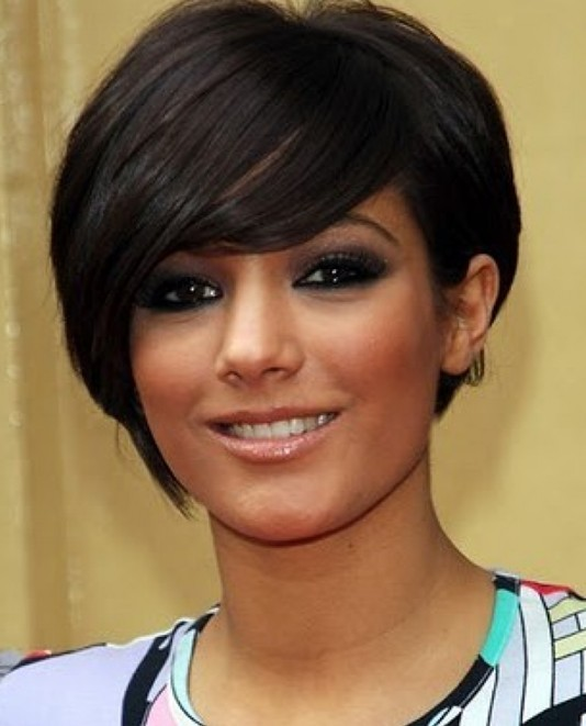 2014 Short Hairstyles for Round Faces: Short Hair with Long Bangs