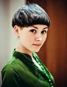 2014 Trendy Short Hairstyles: Short Hair with Blunt Bangs