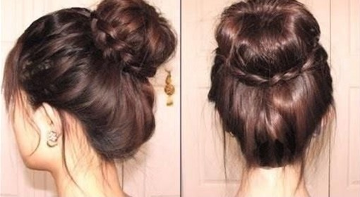 2014 Updo Hairstyles: Braided Bun Updos