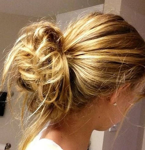 2014 Updo Hairstyles: Easy messy updos for everyday
